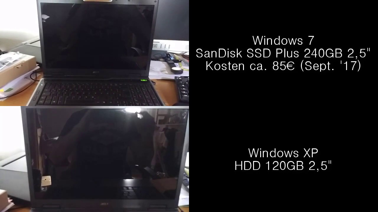 Acer Aspire 9300 - Winxp Hdd Vs  Win7 Ssd