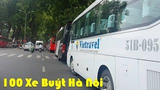 100 Xe Buýt Hà Nội - Hanoi Bus #9 Wheels On The Bus the Vehicles Popular Nursery Rhyme by HT BabyTV
