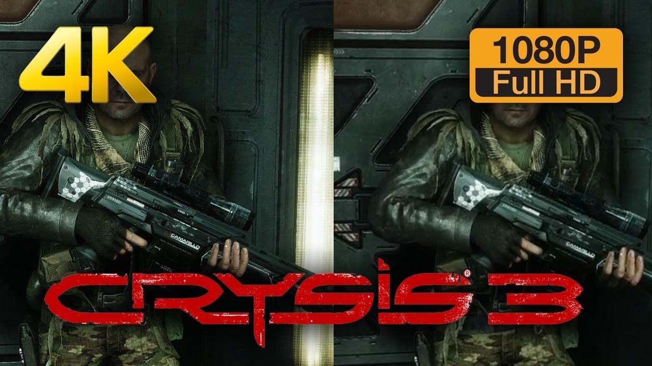 4K vs 1080p Graphics Comparison - Crysis 3 - YouTube