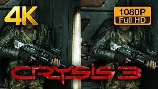 4K vs 1080p Graphics Comparison - Crysis 3