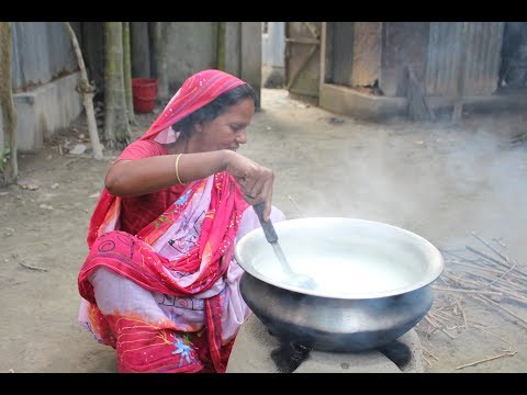 Village Food | Delicious sweet Payesh recipe is cooked by grandmother for Eid