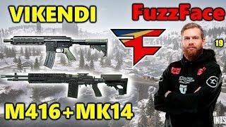 PUBG - Faze FuzzFace - VIKENDI - M416 + MK14 #SQUAD