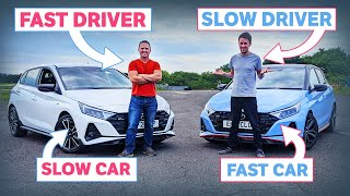 homepage tile video photo for Fast Car, Slow Driver Vs Slow Car, Fast Driver!