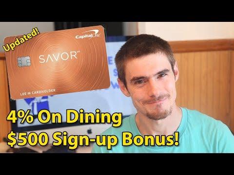 updated-capital-one-savor,-4%-on-dining-+-$500-bonus