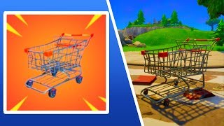 DRIVING SHOPPING CARTS In Fortnite: Battle Royale! [Shopping Cart Update] (VEHICLES + CARS) *NEW*