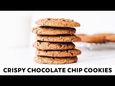 Crispy Chocolate Chip Cookies // Vegan, Gluten-free, Paleo
