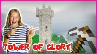 BUILDING TOWER OF GLORY IN ROBLOX MINECRAFT!!!
