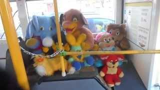 М'які іграшки і ''Маршрут ТБ'' в одному з тролейбусів р. Калуга.