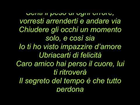 Roby Facchinetti e Riccardo Fogli - Il segreto del tempo (Sanremo 2018) testo