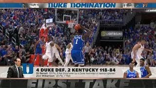Stephen A on Duke's blowout win vs Kentucky My God First Take