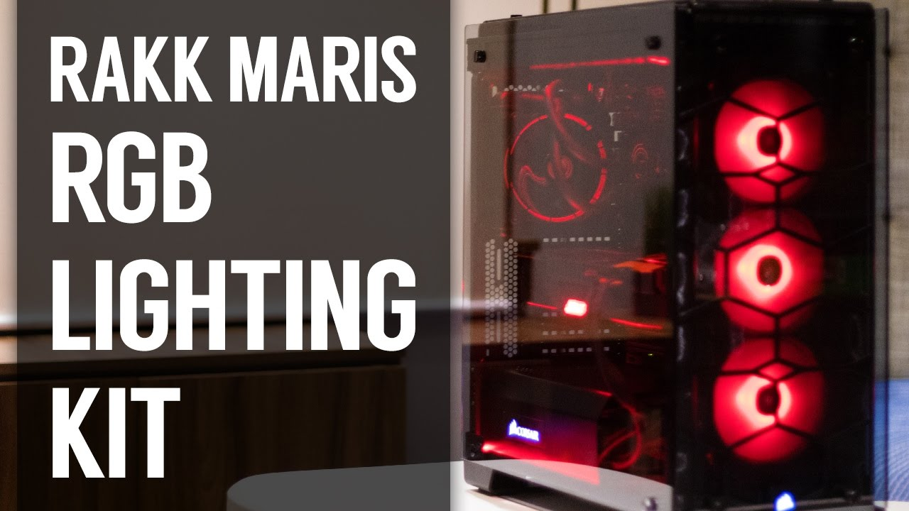 Rakk Maris 27 Rgb Case Lighting Kit Unboxing Review