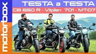 Honda CB650R vs Yamaha MT07 vs Husqvarna Vitpilen 701 | L'MT07 perde il trono?