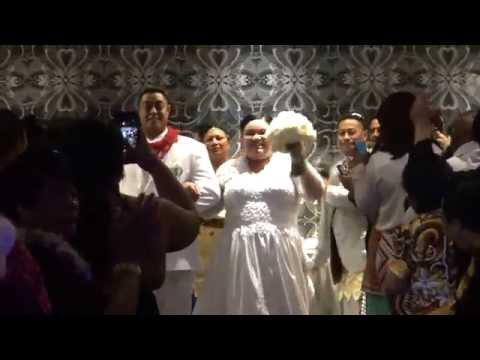 Mr & Mr Masiu and Natasha He -  Wedding Reception Entrance