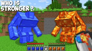 Who is STRONGER ? LAVA MUTANT MAN vs WATER MUTANT MAN in Minecraft !