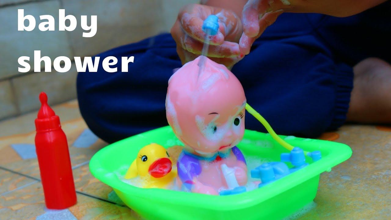 Mainan anak baby shower ❤ baby doll bath time - YouTube 61709e3b98