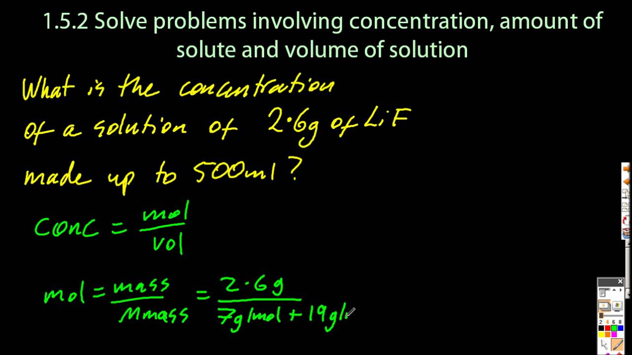 1 3 solve problems using concentration amount of solute and 1 3 solve problems using concentration amount of solute and volume sl ib chemistry