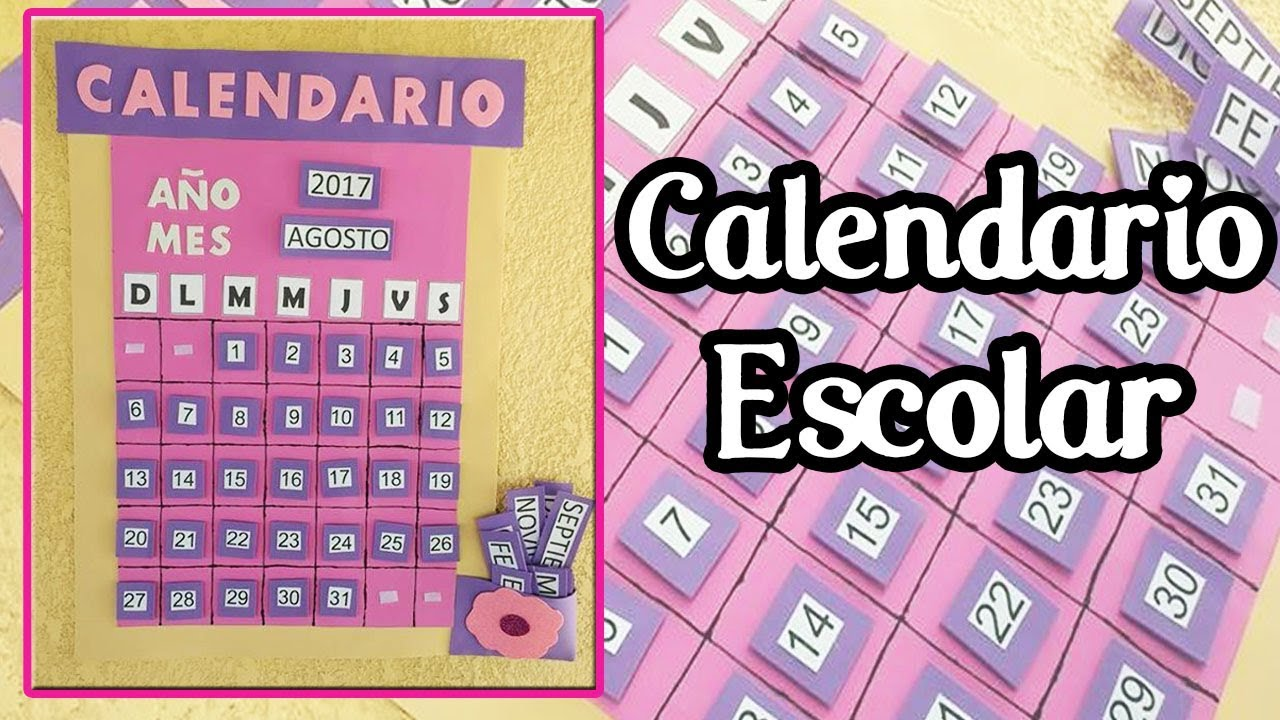 Calendario escolar back to school manualidades con for Calendario manualidades