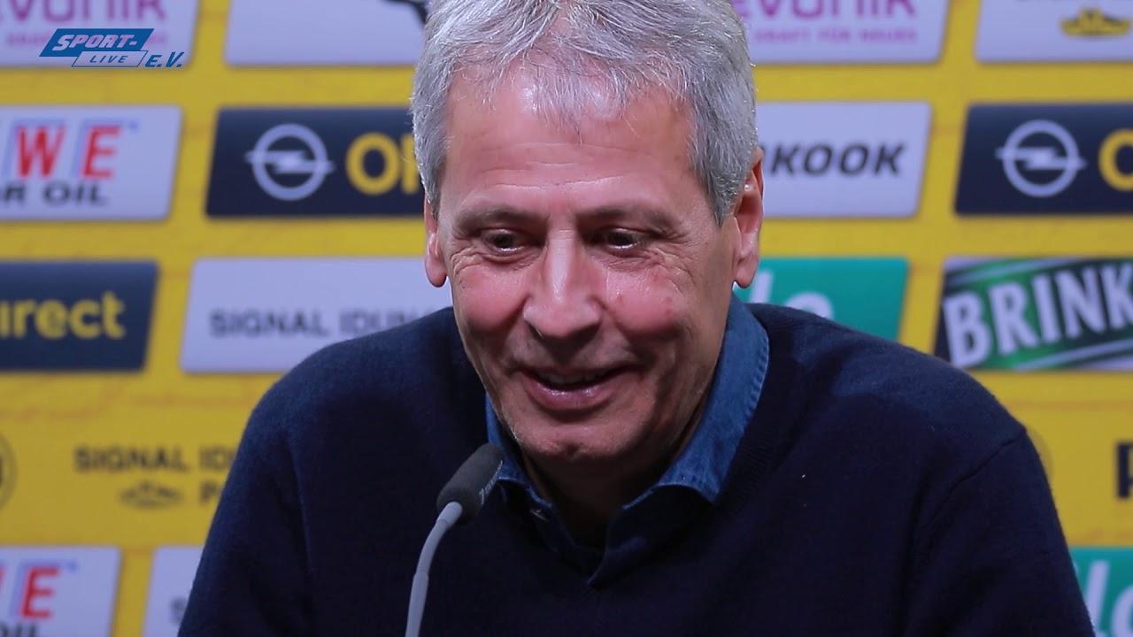 Pressekonferenz mit Lucien Favre vor dem Spiel gegen Paderborn