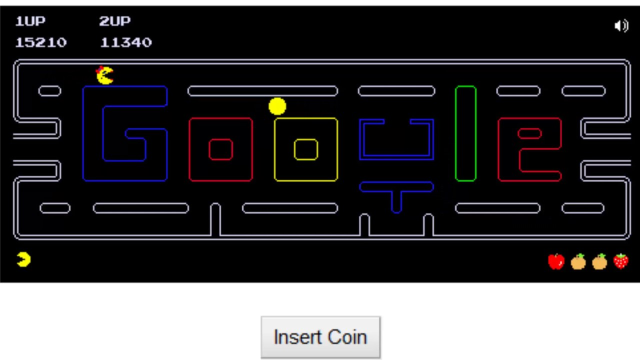 Pacman Doodle 2 Player Gameplay Youtube