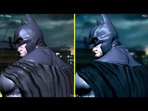 Batman Arkham Origins Blackgate PS Vita vs PS3 Graphics Comparison