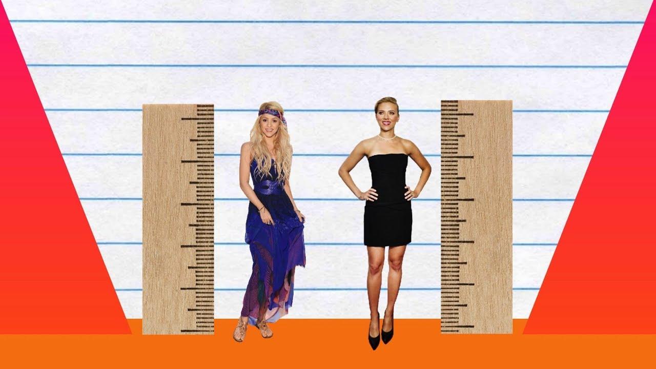How Much Taller? - Shakira vs Scarlett Johansson! - YouTube