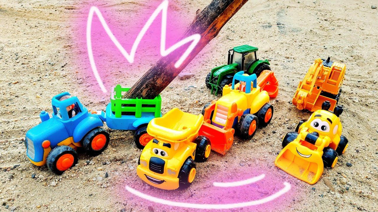 Детские мультики про машинки. Синий трактор и строительная ...