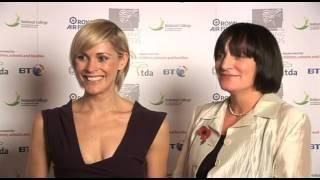 Liz Quinn,  2009 secondary headteacher of the year, with Jenni Falconer