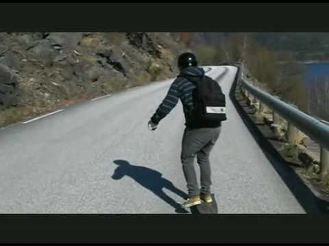 Longboarding between the fjords in Sogndal.