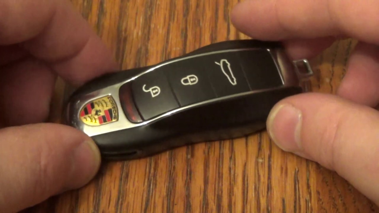 DIY Porsche , How to change SmartKey Key fob Battery on Panamera Cayenne  Macan