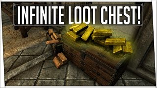 Skyrim Remastered - Infinite Loot Chest! (UNLIMITED Gold and Items)
