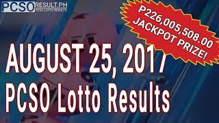 PCSO Lotto Results Today August 25, 2017 (6/58, 6/45, 4D, Swertres & EZ2)