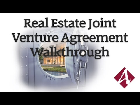 Real Estate Joint Venture Agreement Walkthrough