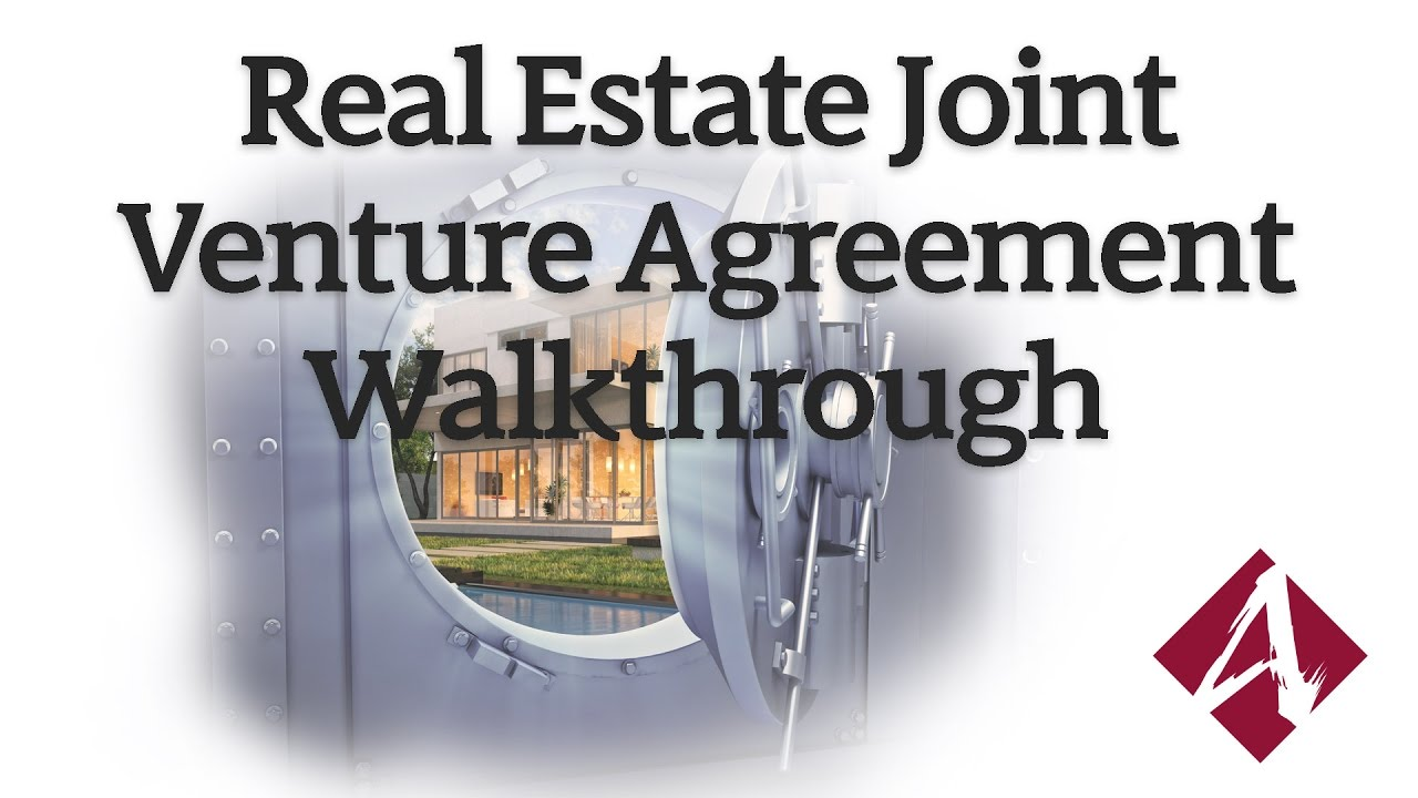 real estate joint venture agreement pdf