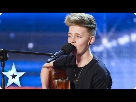 14 Year old songwriter Bailey McConnell impresses with his own song  Britains Got Talent 2014