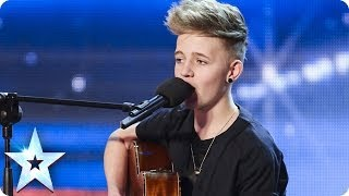 14 Year old songwriter Bailey McConnell impresses with his own song  Britains Got Talent