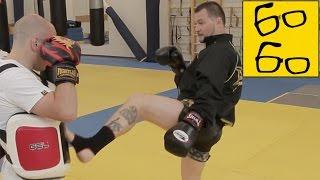 Как бить ногами с разножки? Урок тайского бокса и спецназовские хитрости от Алексея Лобанова