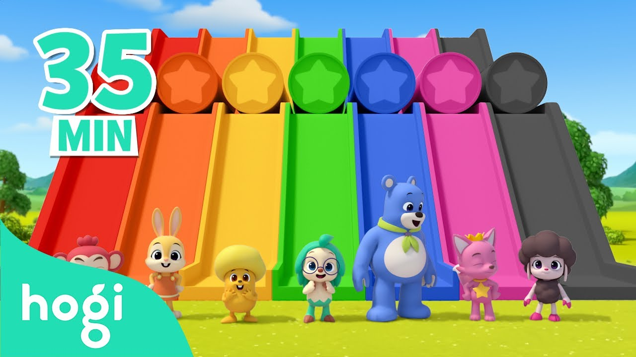 Download Learn Colors with Slide and More! | +Compilation | Colors for Kids | Pinkfong & Hogi Nursery Rhymes