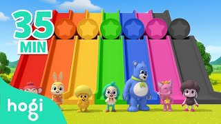 Learn Colors with Slide and More! | +Compilation | Colors for Kids | Pinkfong & Hogi Nursery Rhymes