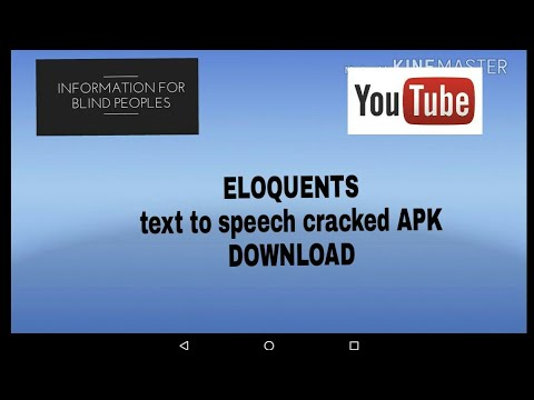 Eloquents text to speech cracked APK download. And how to configure with TalkBack