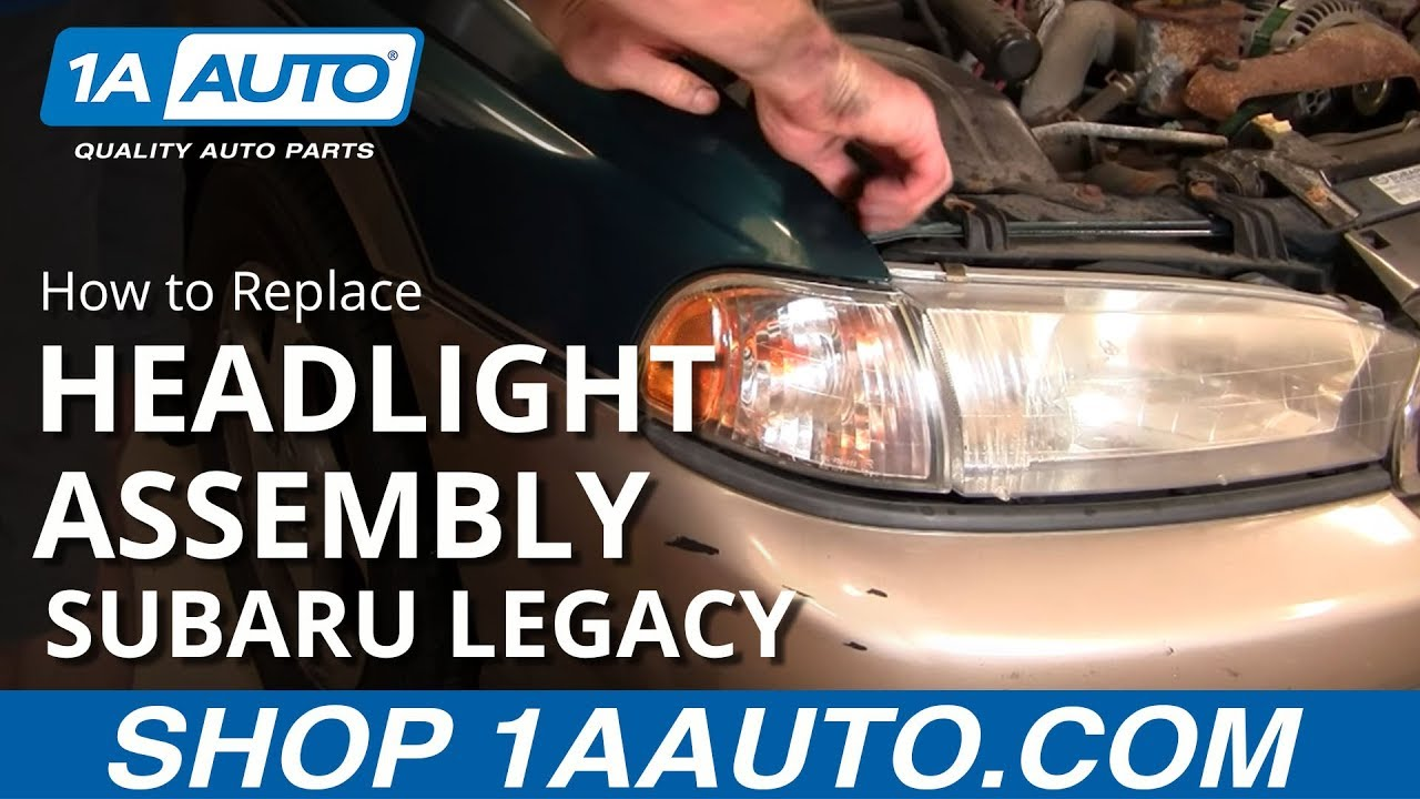 how to replace change headlight and bulb subaru legacy outback 96 99 1aauto com [ 1280 x 720 Pixel ]