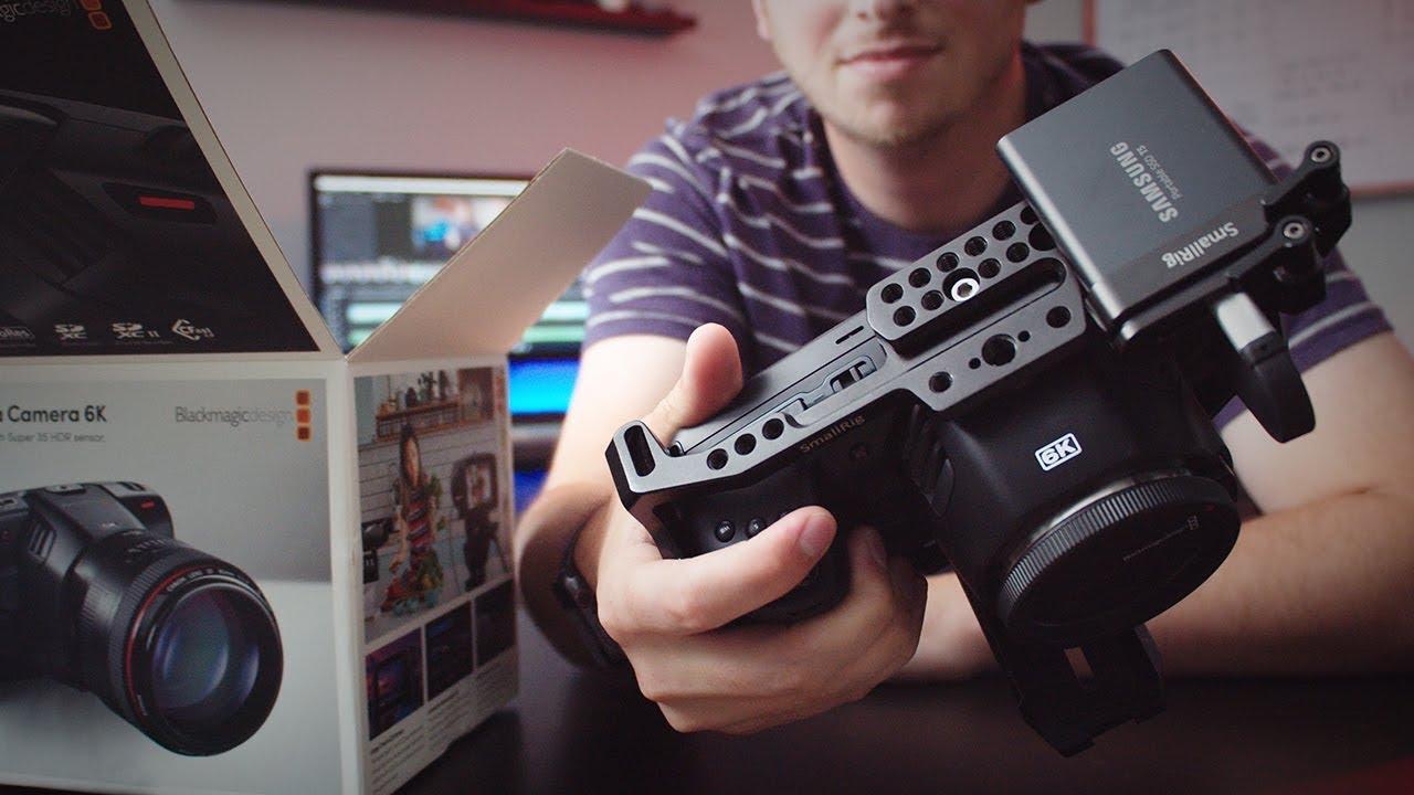 Blackmagic Pocket 6K Unboxing & Setup (Pocket 4K accesories)