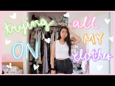trying on EVERYTHING in my closet - Brandy Melville, Princess Polly, Urban Outfitters, Pacsun, Levis