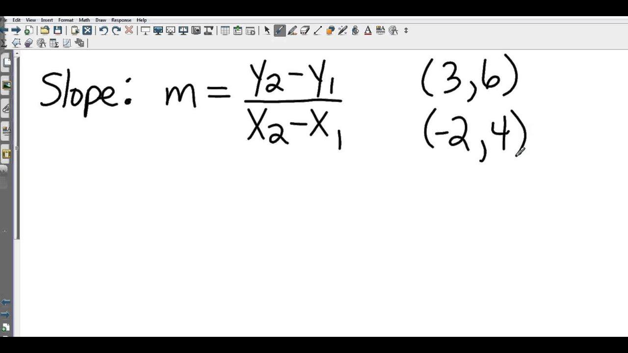 Algebra I 3 3 Rate Of Change And Slope Youtube