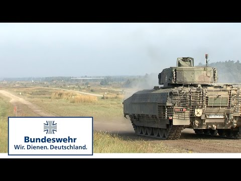 Bundeswehr Infantry Fighting Vehicle (IFV ) in live ammunition exercises - a predator on tracks.