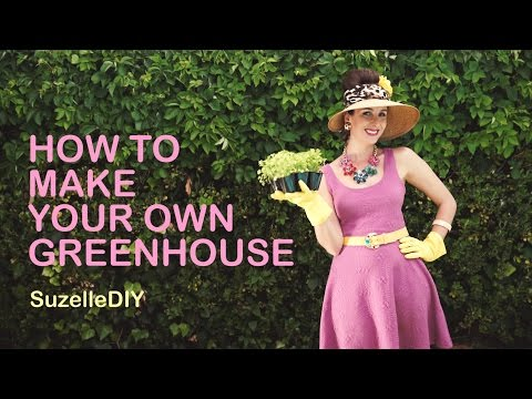 How to make a small greenhouse from Hula-Hoops
