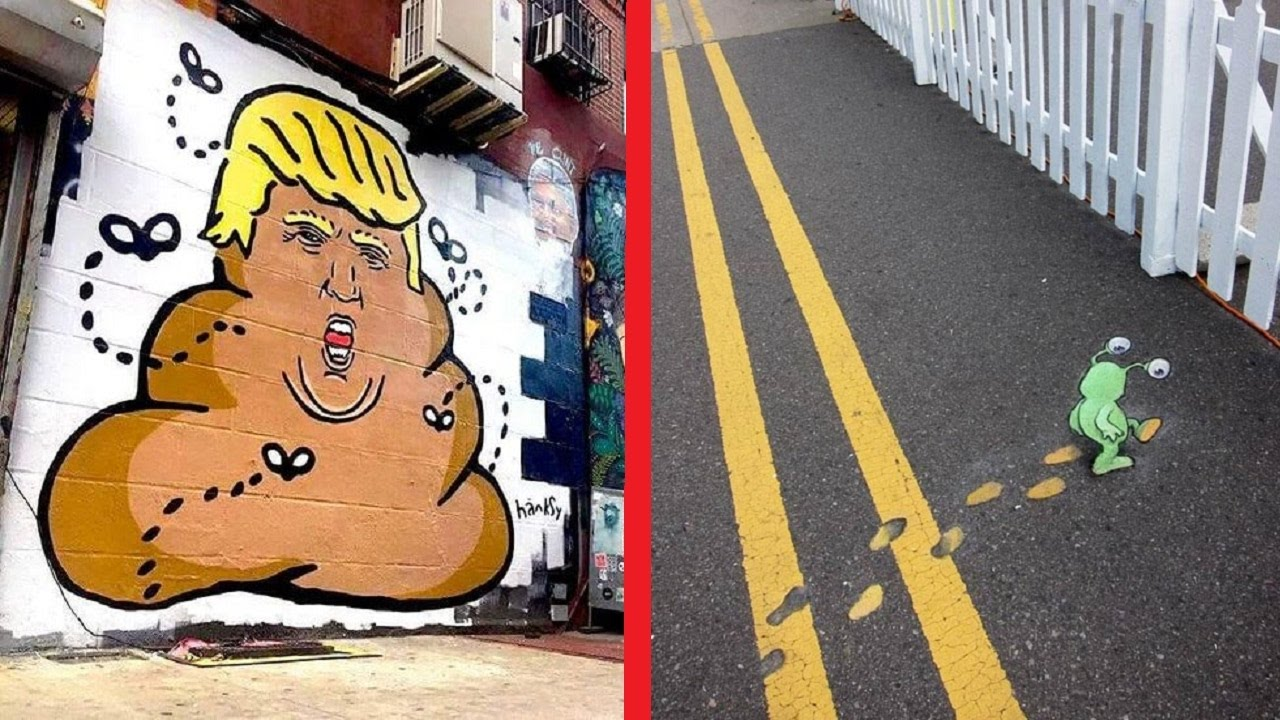 Funny and creative street art around the world youtube for Art from around the world