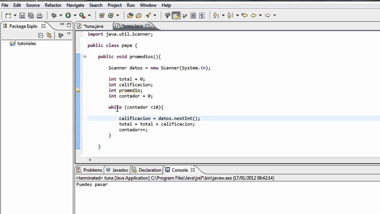 Tutoriales Java 20 Obtencion De Promedios Youtube
