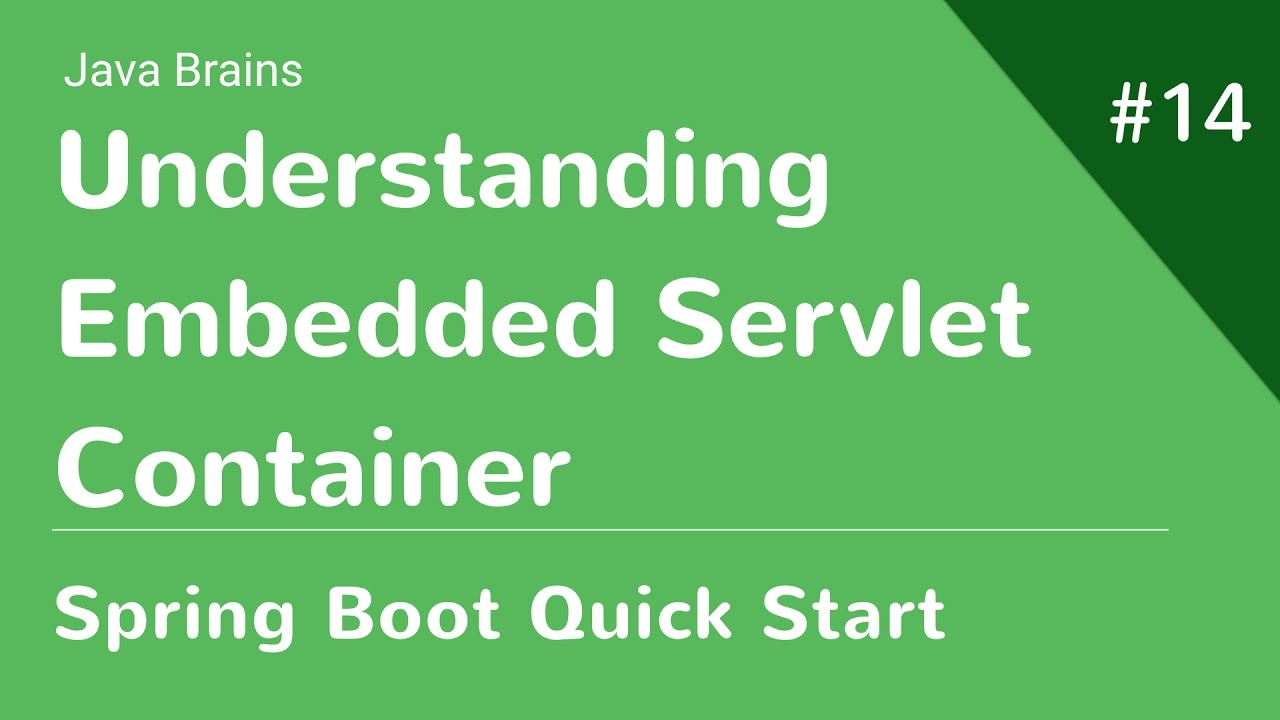 Spring Boot Quick Start 14 - What's Happening Here: Embedded Servlet  Container