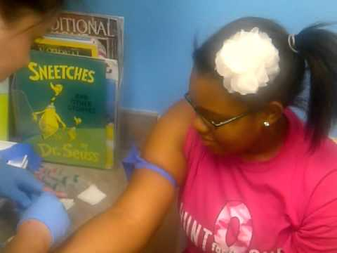 Keiona Getting Booster Shots Summer August 2011 Going To 7th Grade Prt 2