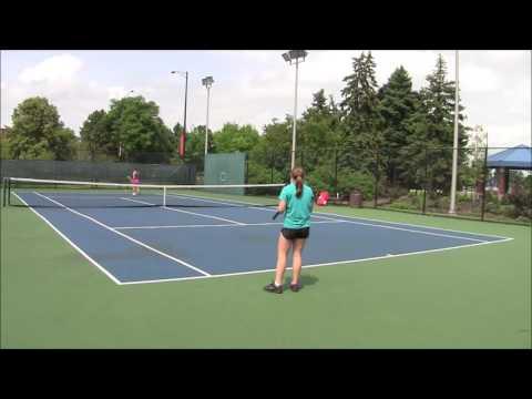 Jelena Vujanic - Tennis Practice Video
